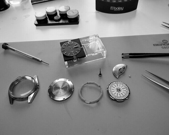Démontage de la montre