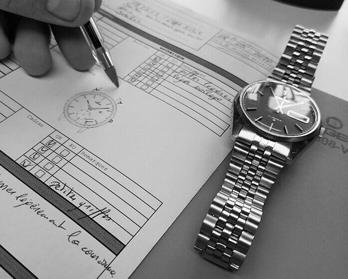 Diagnostic de la montre